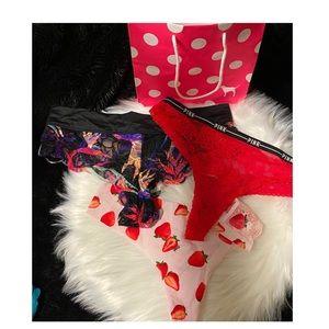 (5/$25!) 3 piece VS PINK underwear bundle!♥️